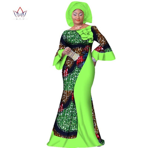 Image of Summer Plus Size Women Clothing Maxi Natural Dress Dashiki African Dress For Women In African Clothing Party Long Dress  WY2709