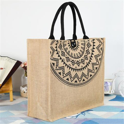 Women Linen Luxury Tote Large Capacity Female Casual Shoulder Bag Lady Daily Handbag Beach bags for women 2019