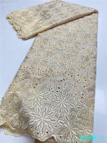 NIAI Swiss Voile Lace Latest african handcut cotton Lace Fabric High Quality nigerian Swiss Voile Lace In Switzerland XY3588B