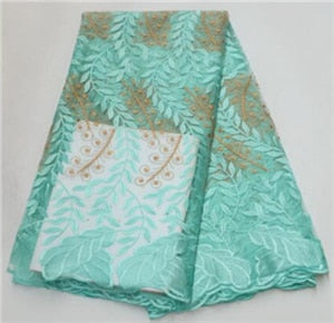 High Quality African Lace Fabric Latest Organza Lace Fabric With Sequins Embroidered Nigerian Lace Fabric For Party   COP-004