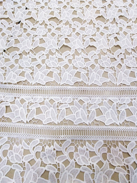 High Quality African milk silk  Lace Fabric Water Soluble off white Nigerian Guipure Wedding Dress African Lace Fabric   JYno253