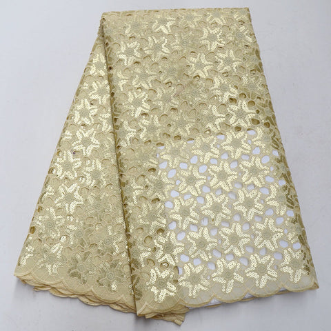 Image of High Quality African organza lace fabric 2018 Hot Sale African lace fabric High Class Organza with sequins QE764