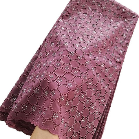 Image of High Quality Burgundy African Swiss Voile Lace 2019 African Polish Swiss Cotton Voile Lace Fabric Dry Lace For Men And Women