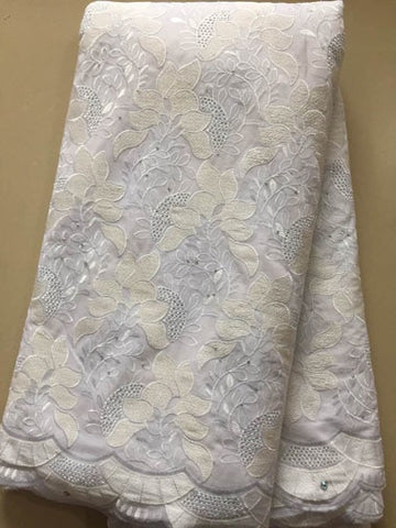 Image of High Quality Stones Swiss Voile Lace In Switzerland Cotton Swiss Voile Laces For Nigeria Lace Fabric 2018 Cotton Lace  FLL3294