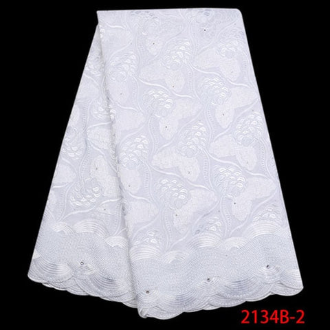 Image of High Quality Swiss Voile Lace 2018 Fashion African Cotton Lave Fabric Embroidery Dry Lace Fabric For Party Dresses NA2134B-1