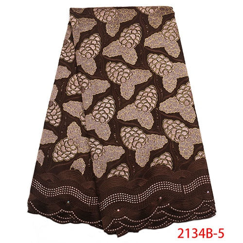 High Quality Swiss Voile Lace 2018 Fashion African Cotton Lave Fabric Embroidery Dry Lace Fabric For Party Dresses NA2134B-1