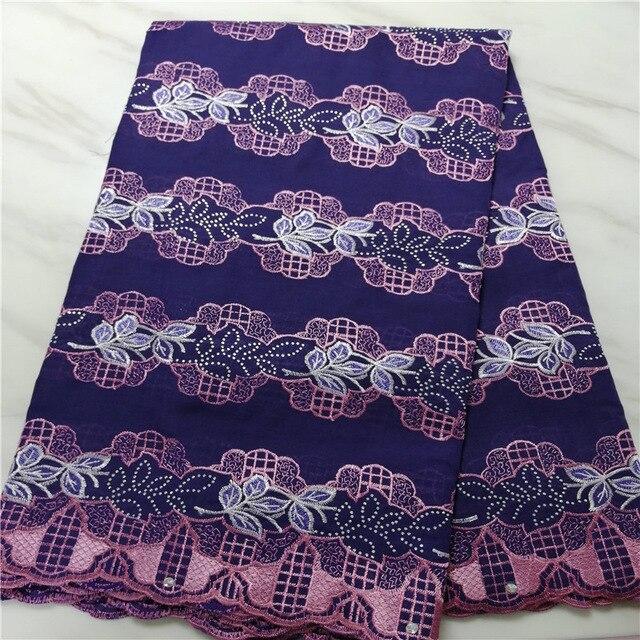 High Quality Swiss Voile Lace African Lace Fabric African Swiss Cotton Embroidered 100% cotton fabric For Party Dress 13L051507