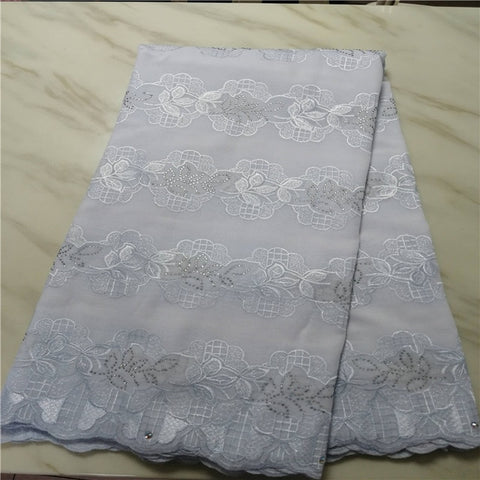 Image of High Quality Swiss Voile Lace African Lace Fabric African Swiss Cotton Embroidered 100% cotton fabric For Party Dress 13L051507