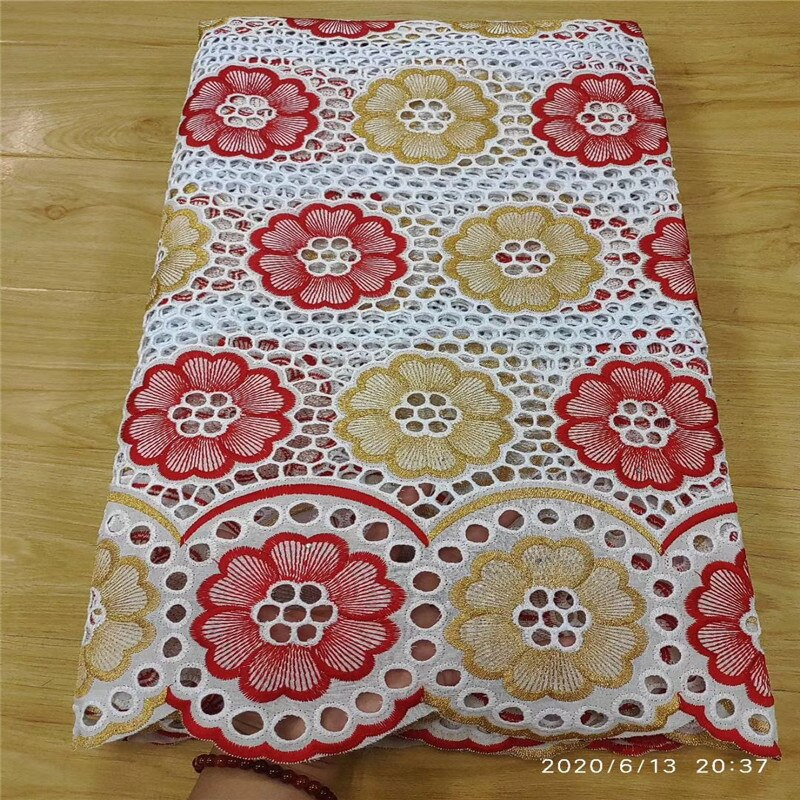 High Quality Swiss Voile Lace African Lace Fabric African Swiss Cotton Embroidered 100% cotton fabric For Party Dress 13L051503