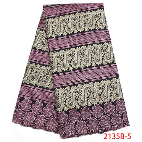 Image of High Quality Swiss Voile Lace In Switzerland Fashion African Dry Cotton Lace Fabric For Nigerian Party Dresses NA2135B-1