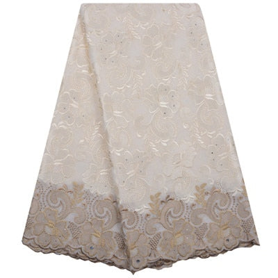 Image of High Quality Swiss Voile Laces Switzerland Emboridery Cotton African Dry Cotton Lace Fabric 2018 Nigerian Man Voile Lace A1195