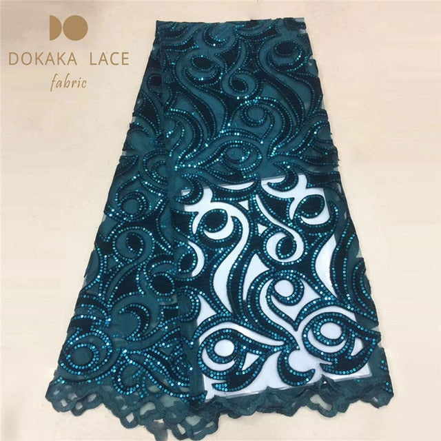 High-end Models Sequined African Net Lace Fabric With Cotton Embroidered Guipure Nigerian Indian Noble Lady Dresses Style Laces