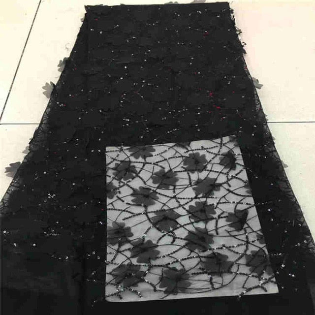 High quality Burgundy African lace fabric sequins french tulle lace fabric 2018 latest arrival hot sale 5 yards for dress