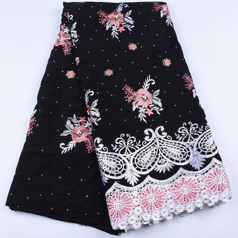 Image of Hot Sale African Cotton Lace 2019 Popular Swiss Voile Lace in Switzerland Nigerian Dry Lace for Women Wedding DressA1673