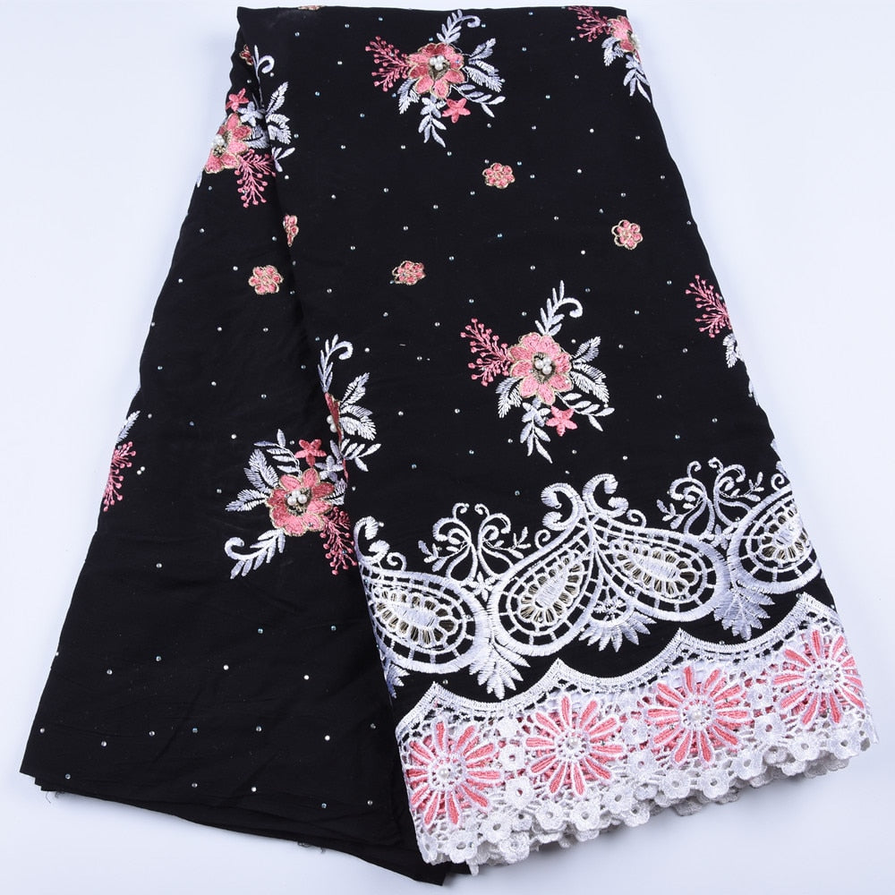 Hot Sale African Cotton Lace 2019 Popular Swiss Voile Lace in Switzerland Nigerian Dry Lace for Women Wedding DressA1673