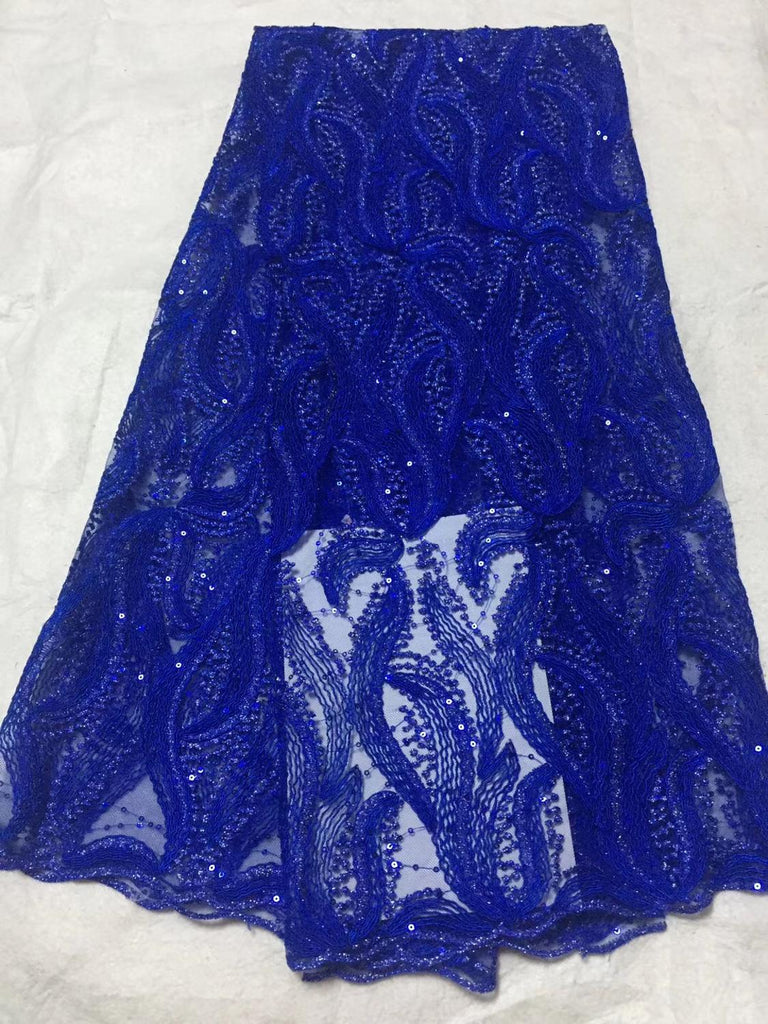 Hot Sale African Lace Fabric High Quality 3d French Nigerian Tulle Lace Fabric Sequins Fabric For African Bridal Lace