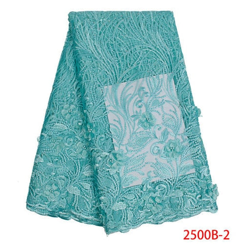 Hot Sale Luxury African Lace Fabric 2019 High Quality Tulle French 3D Lace Fabrics French Lace for Wedding Dress APW2500B