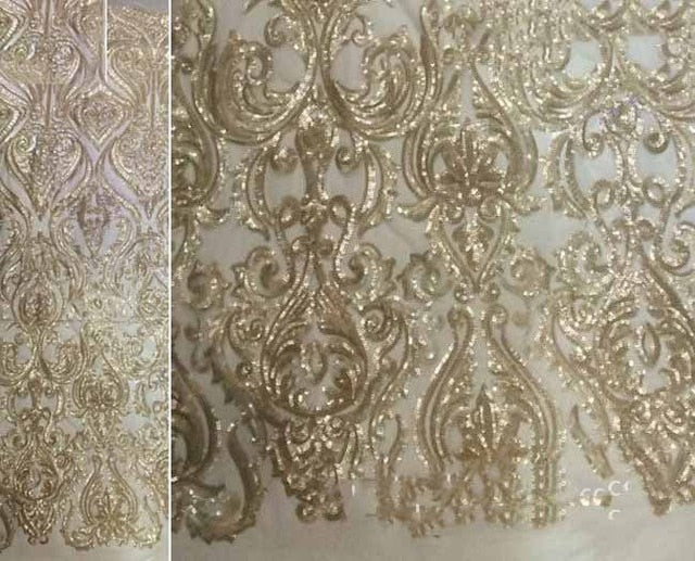 Hot Sale french lace african sequins lace fabric white high quality african tulle lace fabric Ivory voile lace in switzerland
