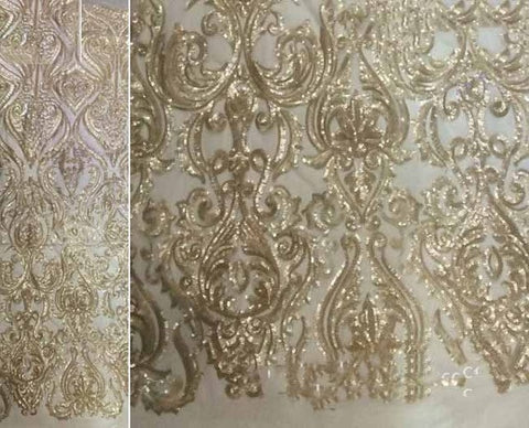 Image of Hot Sale french lace african sequins lace fabric white high quality african tulle lace fabric Ivory voile lace in switzerland