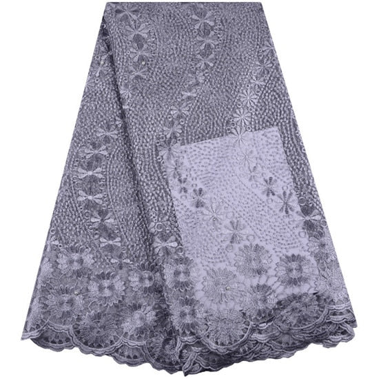 Latest African Cord Lace Fabric 2019 High Quality Voile Lace French Net Mesh Lace Fabric for Evening Party Wedding Dress Clothes
