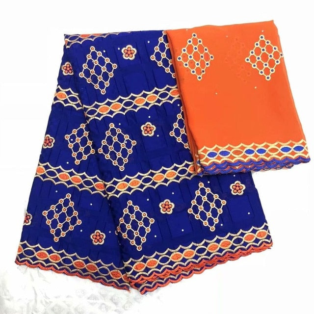 Latest African Lace 2018 Swiss Cotton Dry Lace Fabric High Quality Swiss Lace Material With Aso Oke For Man And Women lf1019