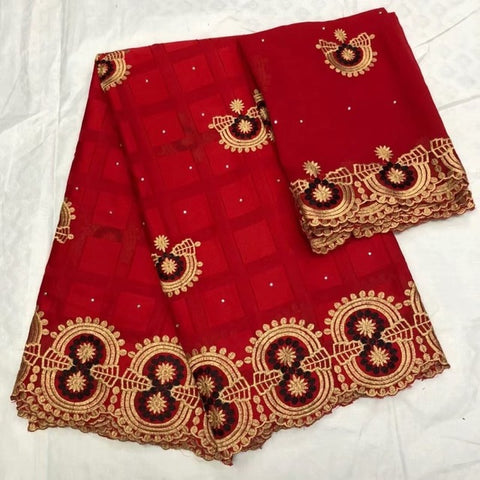 Image of Latest African Lace 2018 Swiss Cotton Dry Lace Fabric High Quality Swiss Lace Material With Aso Oke For Man And Women lf1019
