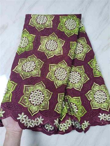 Image of Latest African Lace Fabric 2018 High Quality Lace Swiss Voile Lace In Switzerland African Dresses For Women Lace SLL140a