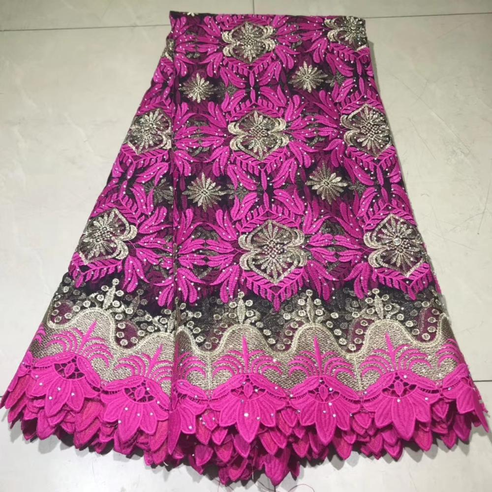 Latest African Lace Fabric 2019 Bridal Lace Fabric High Quality Embroidery Tulle Lace Fabric For Nigerian Wedding  NLYJUN221