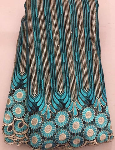 Image of Latest African Laces Fabrics Embroidered African tulle French Lace Fabric With stones 2018 African French Net Lace FLL3255 BLUE