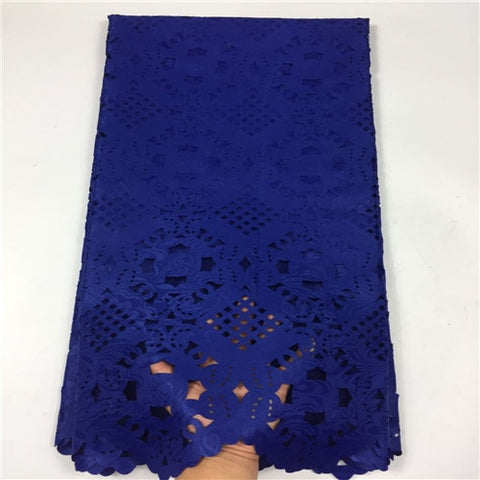 Image of Latest Laser Cutting Nigerian Lace Embroidered Fabric Jacquard Lace Fabric For Dress 2018 Guipure Swiss Dry Lace Materia GF254-1