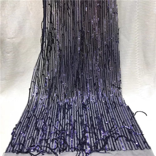 Latest Nigerian Lace Fabric Sequin Embroidery Organza Lace Fabric High Quality African French Lace Fabric For Wedding   JYMAY202