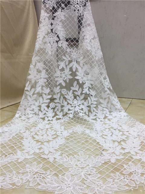 Latest Nigerian Tulle Lace 2019 French Net  Lace Fabric For Nigerian Wedding Embroidery African Lace Fabric  XZXMAY191