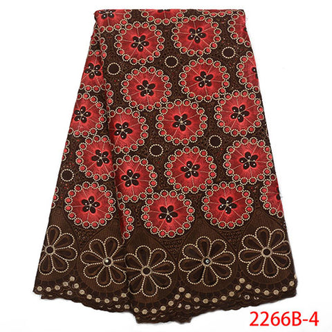 Image of Latest design cotton voile lace fabric with stones for wedding dress high quality african swiss voile lace fabric NA2266B-1