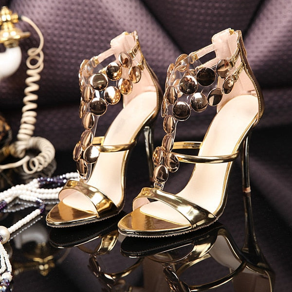Luxury Sexy Pom Pom Sandals Women T-Strap High Heels Fashion Party Dress Shoes Open Toe Customzied Shoes Woman Zapatos Mujer