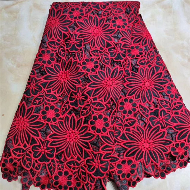 MIQIER 2020 High Quality African nigerian tulle Lace Fabric Pure Cotton Embroidery fabric for sewing guipure cotton fabric Frenc