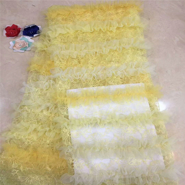 Madison African French Lace Fabric 2019 Latest French Lace Fabric High Quality Nigerian Tulle Lace Fabrics For Wedding Dress