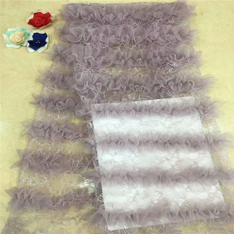 Image of Madison African French Lace Fabric 2019 Latest French Lace Fabric High Quality Nigerian Tulle Lace Fabrics For Wedding Dress