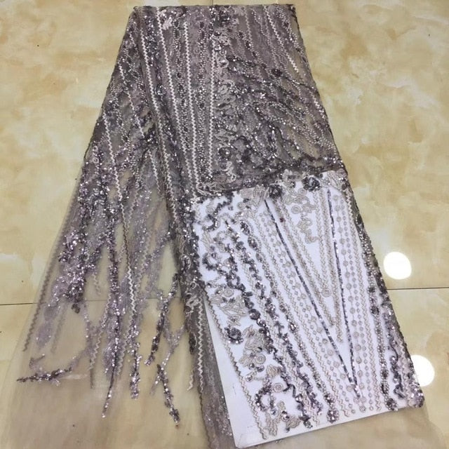 Madison African Lace Fabric Embroidered Nigerian Laces Fabric Bridal High Quality French Tulle Lace Fabric For Wedding Party