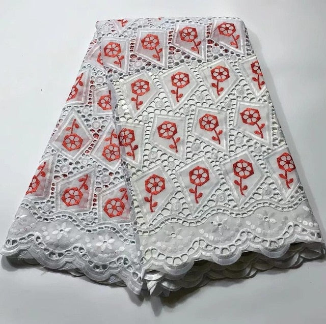 Madison African Lace Fabrics High Quality For Men Cotton Dry Lace Fabric Swiss Voile With Stone Swiss Voile Lace In Switzerland