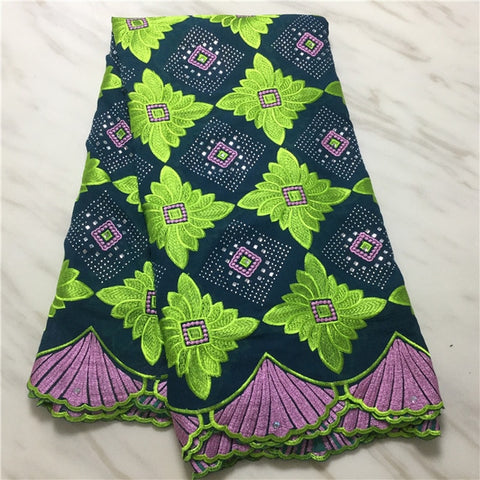 Image of Madison Best Selling Nigeria Lace Fabric African Voile Lace Fabric High Quality 2019 Polish Lace Fabric Cotton Material