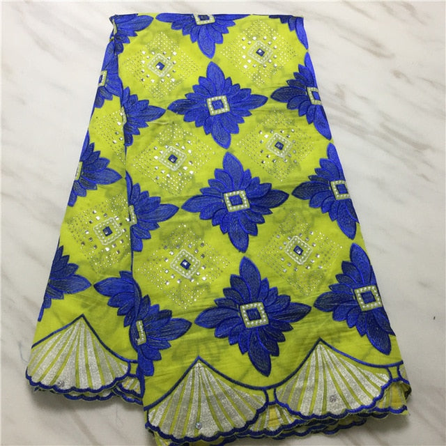 Madison Best Selling Nigeria Lace Fabric African Voile Lace Fabric High Quality 2019 Polish Lace Fabric Cotton Material