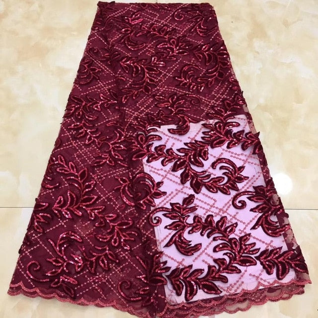 Madison New Arrival High Quality African Lace Fabric Sequins Velvet Lace Soft Nigerian Velvet Lace Fabric For Christmas Wedding