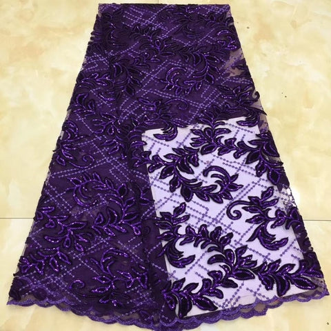Image of Madison New Arrival High Quality African Lace Fabric Sequins Velvet Lace Soft Nigerian Velvet Lace Fabric For Christmas Wedding