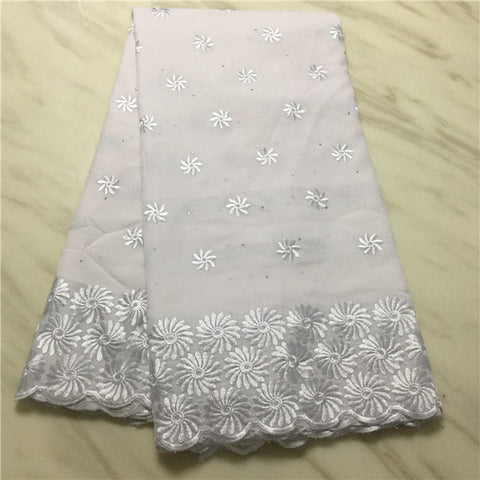 Image of Madison Nigerian lace fabric 2019 High Quality LaceWomen Clothes Swiss Voile Laces Switzerland With Stones Lace Fabric