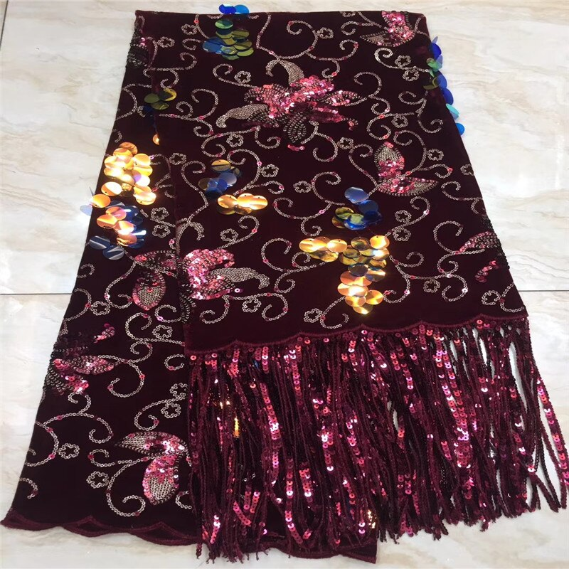Madison Sequence Lace Fabrics Latest African Velvet Lace Fabric Best Quality Nigerian Tulle Mesh Lace for Sewing