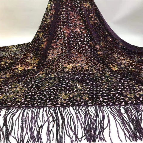 Image of Madison Sequins Fabrics Velvet Lace Fabric High High Quality Sequence Lace for Bridal Nigerian Net Lace Fabric