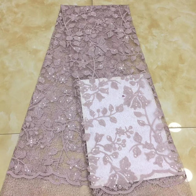 Madison Sequins Lace Fabric 2020 High Quality Lace Nigerian Lace Fabrics For Women Dress African Tulle Lace Material