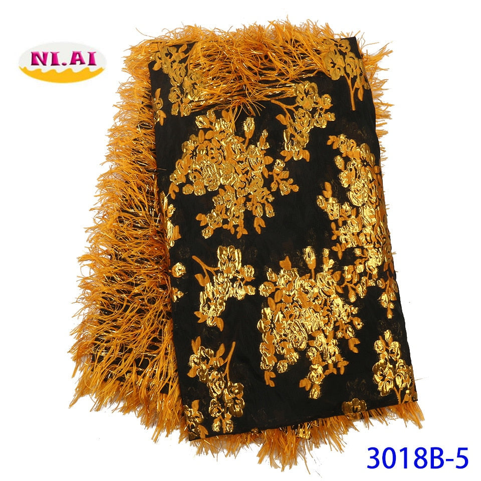 NIAI African Embroidered Brocade Lace For Wedding Party Dress 2019 High Quality Lace French Nigerian Net Lace Fabrics XY3018B-5