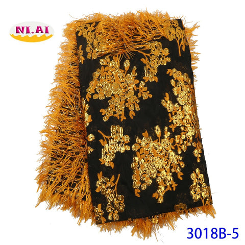 Image of NIAI African Embroidered Brocade Lace For Wedding Party Dress 2019 High Quality Lace French Nigerian Net Lace Fabrics XY3018B-5