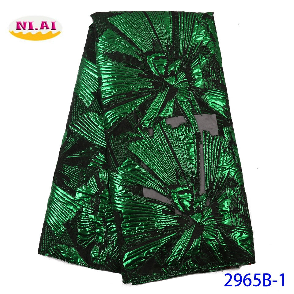 NIAI African Lace Fabric 2019 French Net Lace New Designs Fabric High Quality Nigerian Tulle Lace Fabrics For Women XY2965B-1